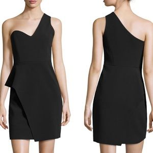 Halston Heritage One Shoulder Asymmetric Dress